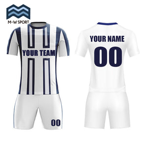 white soccer jerseys custom team sport uniforms