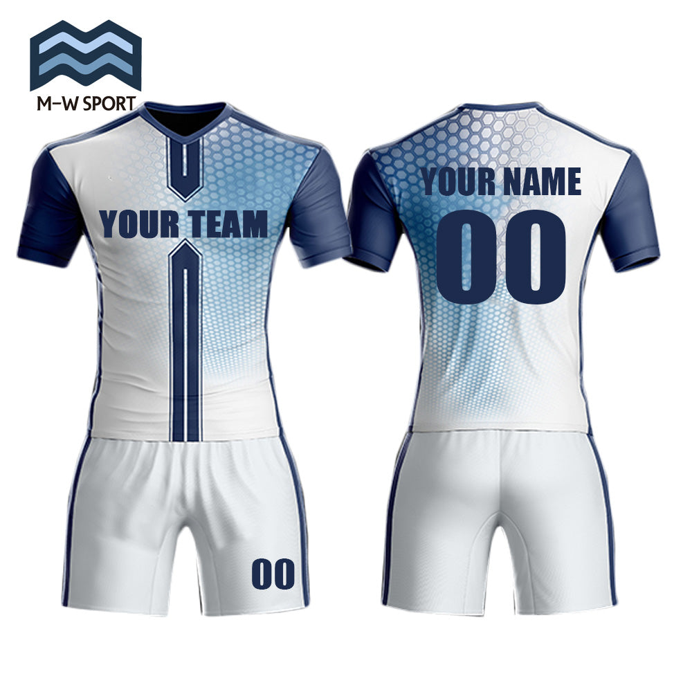 Men's custom team soccer jerseys set with your team name ,your name and number