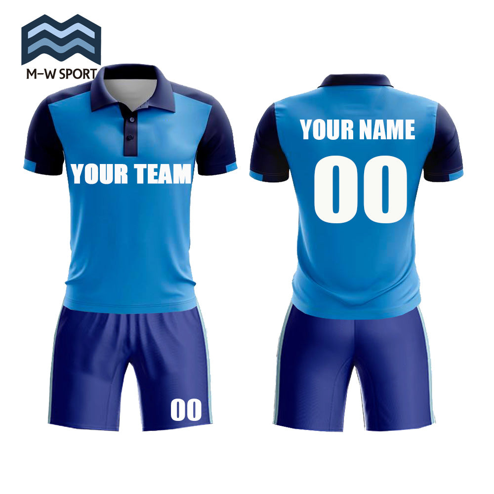 Folded collar and Buttons design football Jerseys - Make Your Own soccer Jersey set - Personalized Team Uniforms