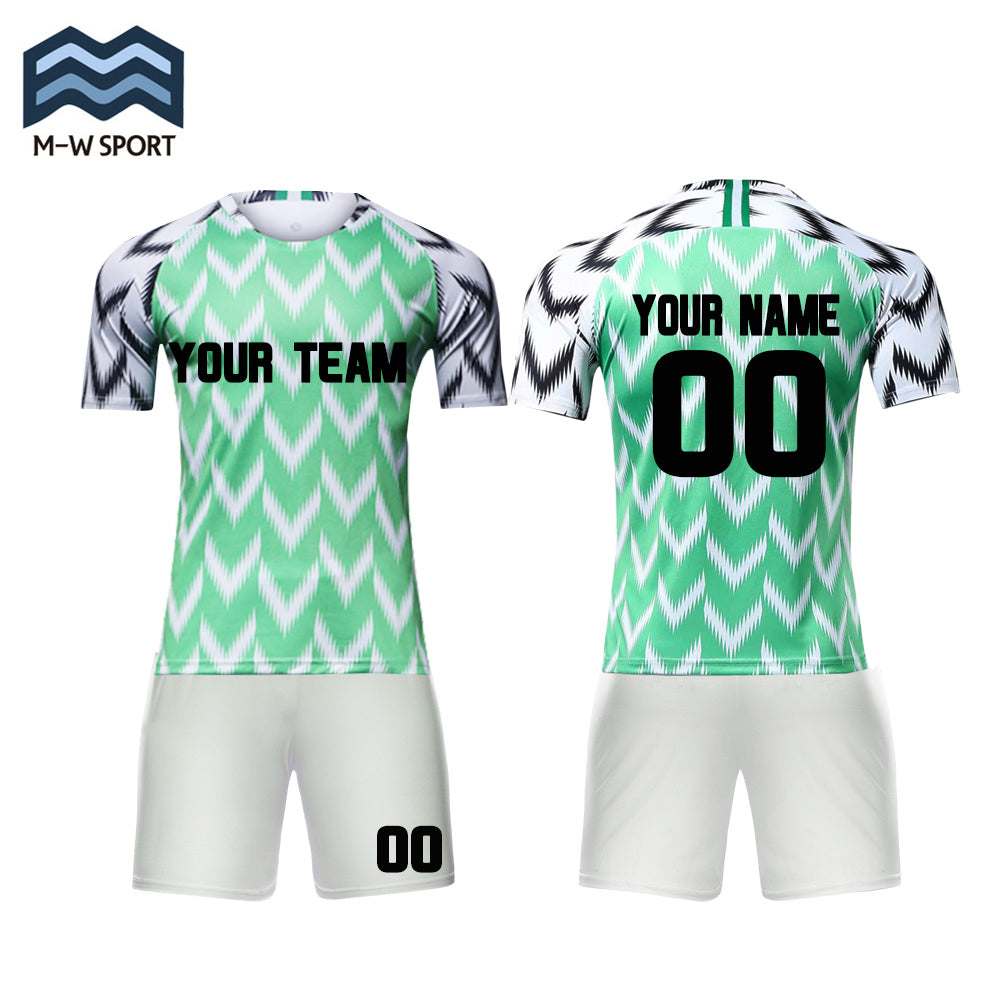 wholesale dealer 12190 e0be7 wholesale custom 2018 nike Nigeria Home and away soccer jerseys Make Your  Own soccer Jersey set