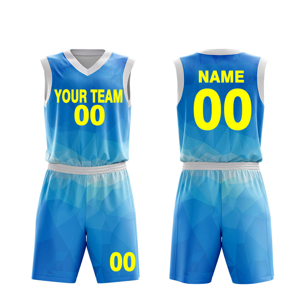 Custom Basketball Uniform Set Tops and shorts - Make Your OWN Jersey - Personalized Team Uniforms
