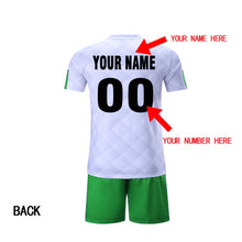 custom team soccer jerseys set design new uniform with your team name your name and number