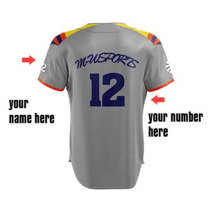 M-W Sports Mesh Fabric High Quality Baseball Shirts Custom Jerseys Softball Wear Plus Size