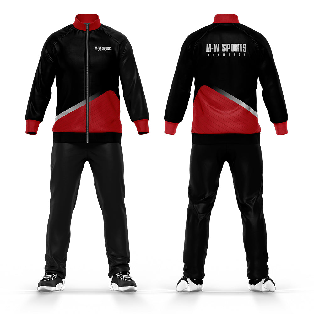 OEM Service Wholesale Custom Design Men Plain Full-front Zip Football Tracksuit Slim Fit