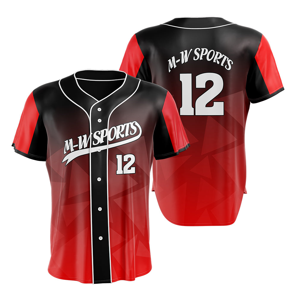 M-W Sports Fast Delivery Red Color Baseball Wears Personality With Lettering And Numbers