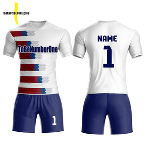 a461e2e4a Hot sale design custom men s soccer uniform set Sublimated sportwear