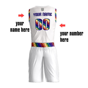 High School Basketball Jerseys For Teams Green Color Reversible Jersey Basketball Customized