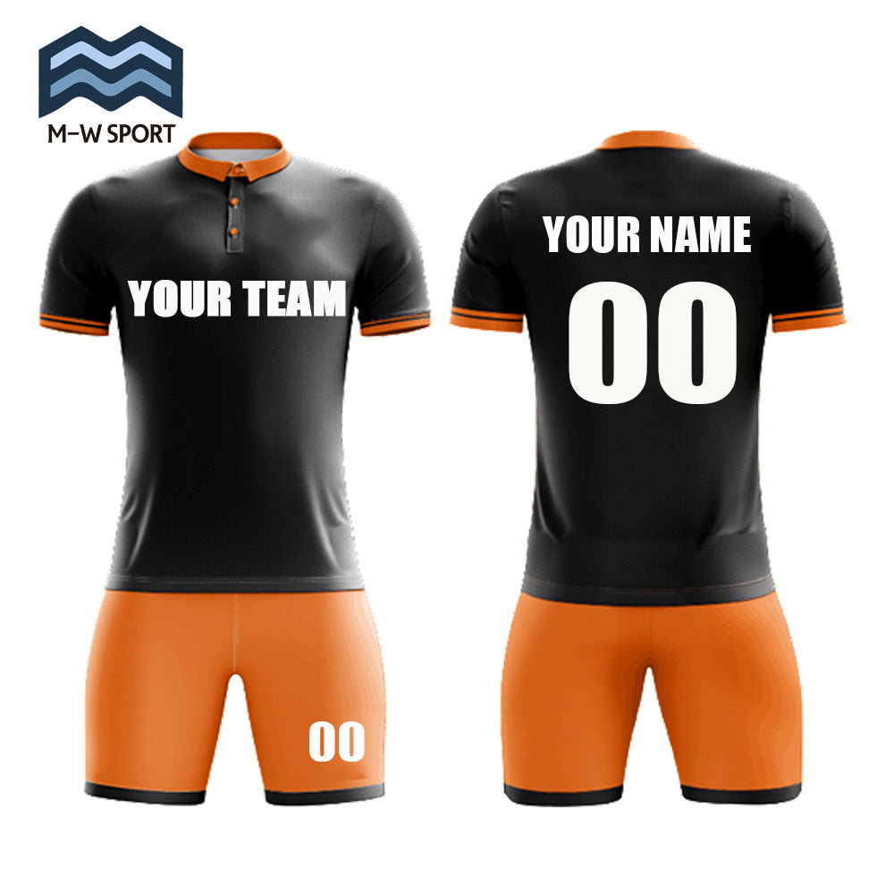ea82c575a ... Folded collar and Buttons design football Jerseys - Make Your Own soccer  Jersey set - Personalized ...