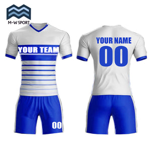 2019 Hot sale new design soccer uniform set custom team jerseys name and number