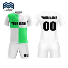 block-design soccer uniform set custom team jerseys name and number