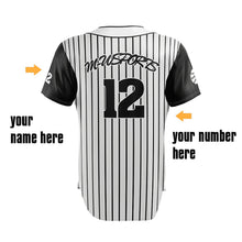 Polyester Dry Fit Custom Stripe Baseball Jersey With Full Button Down Baseball Custom Jersey