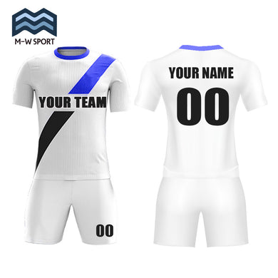 Custom Design Diagonal Stripe Soccer Jerseys Home national team