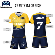Custom Kids Football Jerseys Set Customize for Boy Girl Training Sportswear