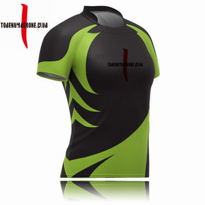 China Newest Design Black And Green Rugby Jerseys Uniform Plus Size