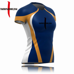 Custom New Design Blue Color Personality Rugby Jersey Plus Size