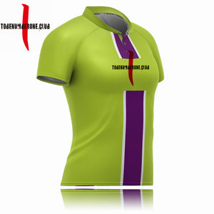 Best 100% Polyester Quick Dry Rugby Jerseys Make In China Green Color