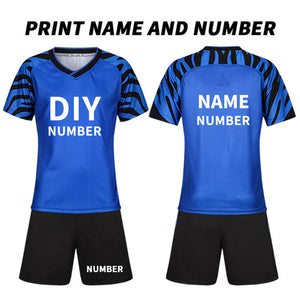 Custom Kids Soccer Jerseys Set Team Training Uniform Set Polyester Sportswear Customize DIY