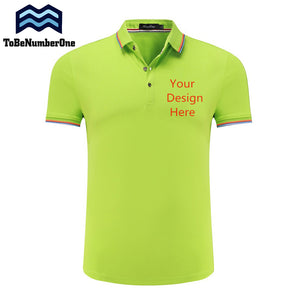 Custom Shirts - Add Your Text logo- Personalized high qulity Polo Tees 10color Unisex