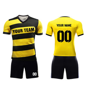 2018 New design soccer uniform set custom team jerseys name and number hot sale