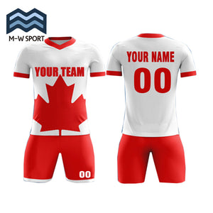 a13b18adc Custom soccer jerseys Canada Flag Concept Football Shirt customize team  name and number