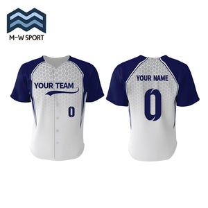 Custom Printed Baseball Team Jerseys with your Team Colors and Logo