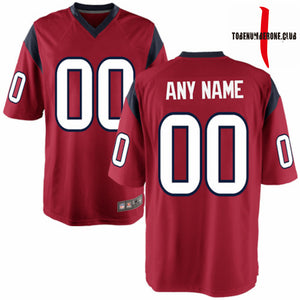 Full Sublimation Custom Red Football Jerseys men/youth