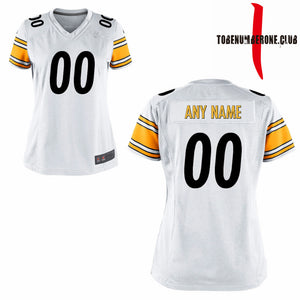 Custom Women's Sublimation White Football Jerseys