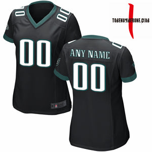 Custom women's sublimation black football jerseys