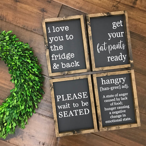 Kitchen Signs - Choose from 4 Styles