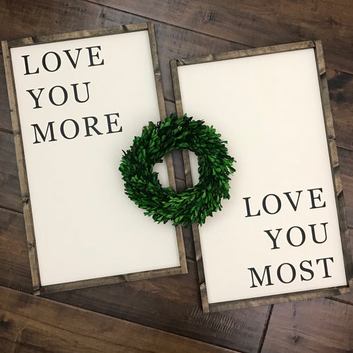 Love You More (vertical) | Set of 2