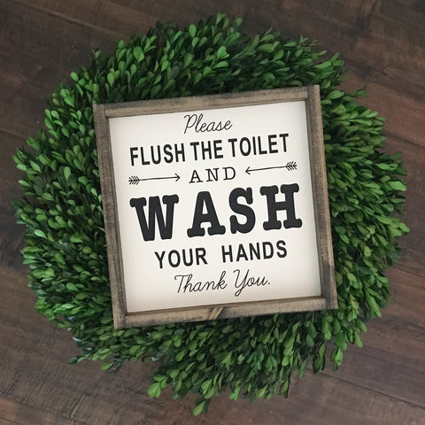 Flush Toilet & Wash Hands