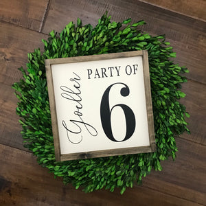 Personalized Family Name | Party Of ___