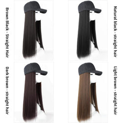 Fashionable lady wig hat in one~Buy one get one free