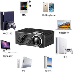 Hot new 814 mini miniature portable home entertainment projector 1080p HD projection
