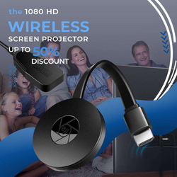 1080 HD Wireless Screen Projector  Compatible with all devices