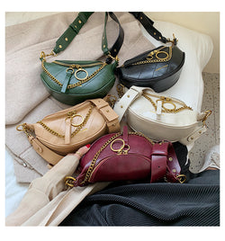 2020 new wave fashion wild French niche high-level foreign shoulder shoulder Messenger bag chain(Low price, clearance sale:₱ 1,980)