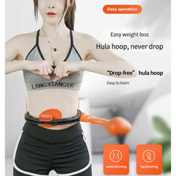 Smart counting will not fall off the hula hoop home slimming waist ring belly belly weight loss exercise