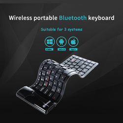 Wireless Bluetooth Silicone Folding Keyboard
