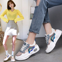 Ladies sneakers shoes wild hollow platform shoes ins tide shoes