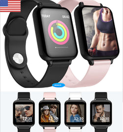 Apple and Android universal smart watch bracelet heart rate sphygmomanometer waterproof sports running multi-function touch screen