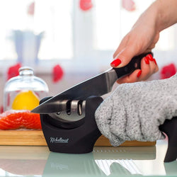 Blade Knife Sharpener Non-slip Base Three Stage Sharpening System