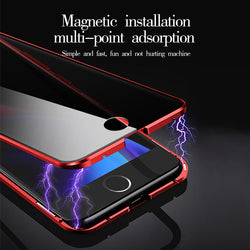 iPhone full-screen anti-peep double-sided glass phone case + fast charging data cable (buy one get one free)