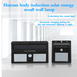 Outdoor waterproof solar wall light