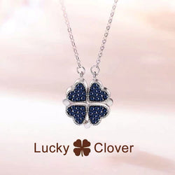 S925 Sterling Silver Four Leaf Clover Necklace