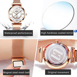 OLEVS  Gypsophila watch ladies diamond star waterproof ins temperament ladies watch