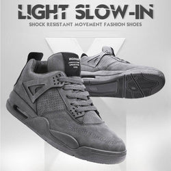 AJ4 version of cool gray mouse gray basketball shoes (made by the original manufacturer)