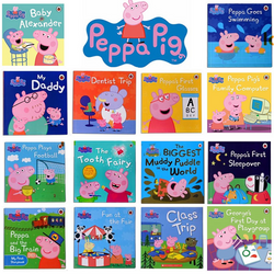 20 Ladybird Peppa Pig Story Book Set - Early Education Enrichment English for 1-7 Years