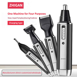 Multifunctional four-in-one razor