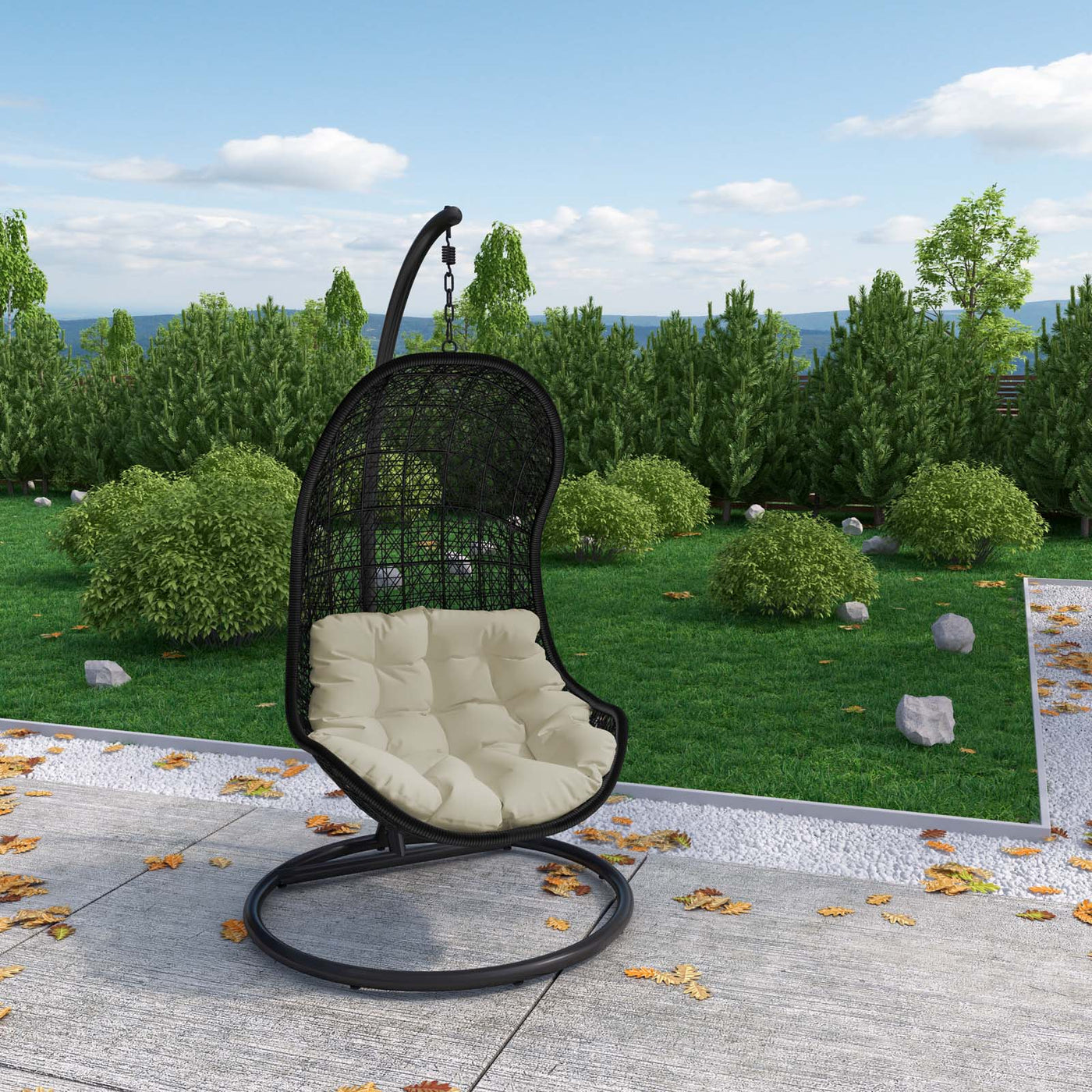 Picture of: Parlay Swing Outdoor Patio Fabric Lounge Chair Patiosonfleek