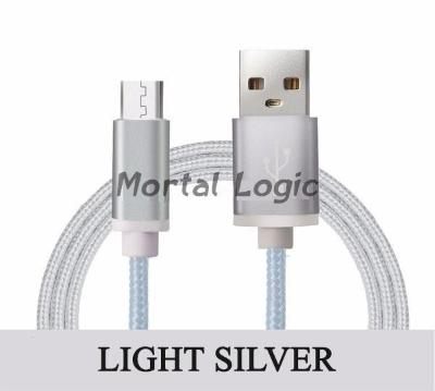Mortal Survival Cable/Cord 6ft Braided Micro USB 2.0 Data/Charging Cable